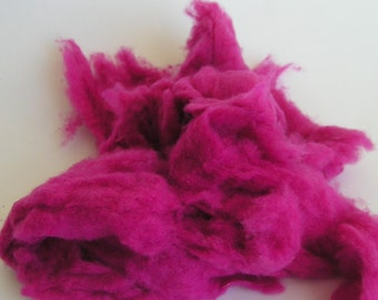 CASHMERE FIBER sale Carded Cloud Dehaired MAGENTA Hot Electric Pink 100 percent Spin Felt Blend Craft 1 ounce Soft luxury amazing