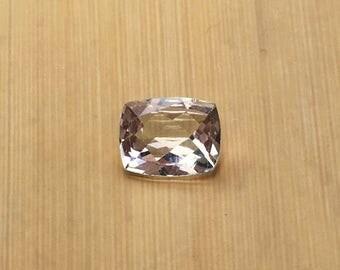 Natural Genuine Morganite- 6.91 x 8.86mm, 3.48mm deep Rectangular Cushion shape Loose Lavender Pink Morganite Gemstone, 1.39 carats -LSG1033
