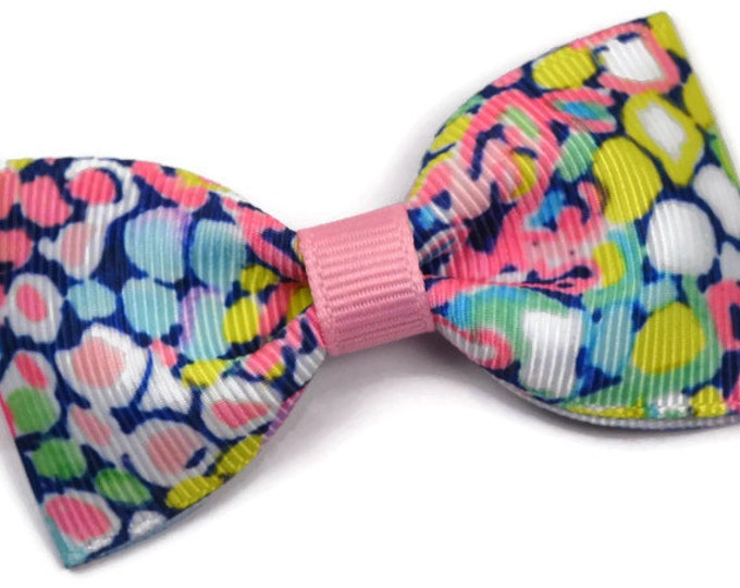 "Gypsy Jungle ~ 3"" Hair Bow Tuxedo Bow ~ Lilly Inspired ~ Simple Bow ~ Boutique Bow for Babies Toddlers ~ Girls Hair Bows"