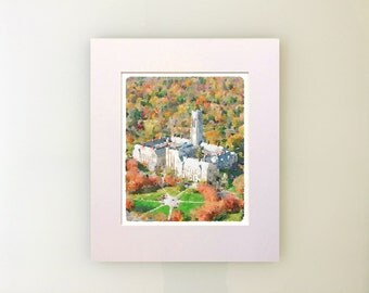 CUSTOM College or University Art Prints & Note Cards - Digitally-Produced, Beautiful, Realistic Quality -- Send Us YOUR Photo