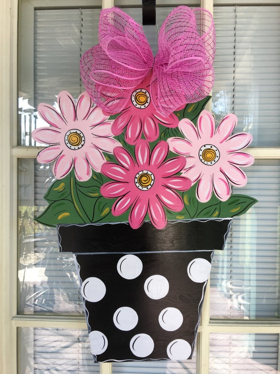 Front Door Decor Spring Door Hanger Flower Door By