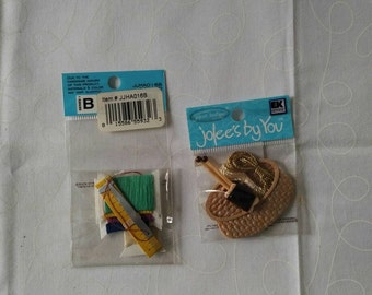 Jolee's by you...scrapbooking embellishments. Knitting and quilting.