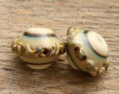 NATURE WALK - Handmade Lampwork Beads - Earring Pairs - 2 Beads