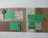 Football 6 Premade or DIY Kit,12x12 Scrapbook Layout, Scrapbook Page Kit, Project Life, Filofax
