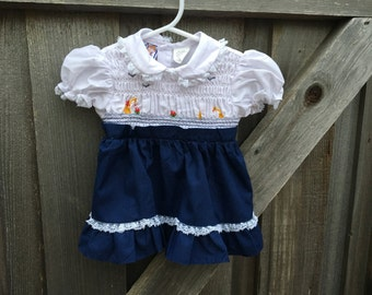 70s Smocked Dress 9/12 Months