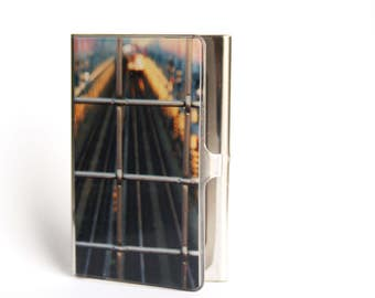 Corporate Gift, Business Card Case, Card Holder, Coworker Gift, Gift for Him, NYC, New York Art, New York Photography, Urban Art, Subway Art