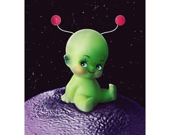 kewpie alien print 5 x 7 PLANET KEWPITER