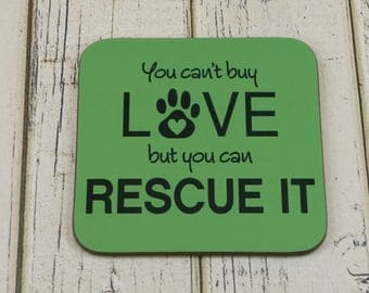 FRIDGE MAGNET You Can't Buy Love But You Can Rescue It - Dog Cat Rescue Adoption Pet Owner