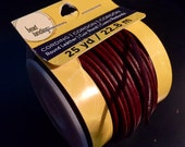 Brown Round Leather Cord/Cording 2mm, 25 yard roll for jewelry DIY