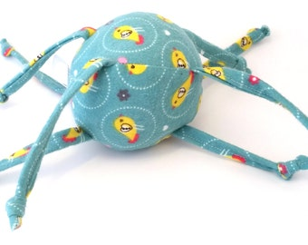 Soft Baby Ball Toy - Little yellow birds on green - ZadyMini