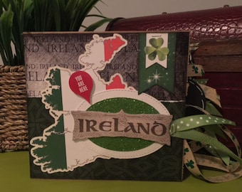 Ireland Scrapbook - Ireland Travel Vacation Scrapbook - Ireland Paper Bag Album
