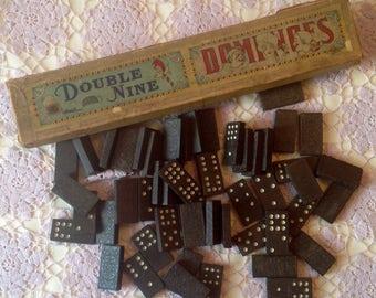Antique Dominoes, Double Nine