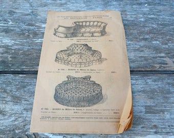 Vintage Antique 1900s Au Bucheron Paris  French furnitures catalog 3 plates /chairs/canapés