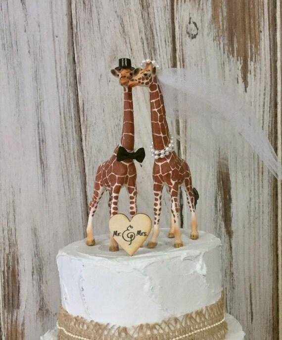Giraffe Cake Topper Giraffe Wedding Cake Topper Animal Cake