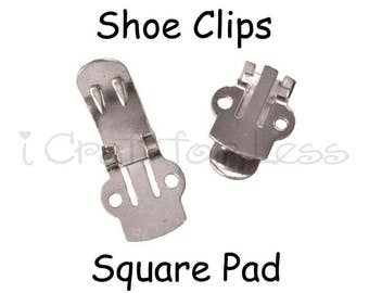Shoe Clips Blanks - 10 (5 pairs) - 10 PERCENT REFUND