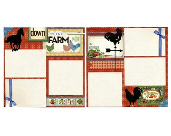 Down On The Farm - Premade Scrapbook Page Set