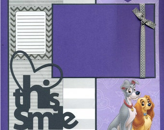 Love This Smile  - Premade Scrapbook Page
