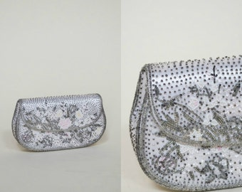 1960s Purse --- Vintage Beaded Clutch