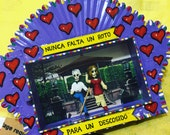 Mexican Tin Nicho, Lovers Diorama, Shadow box, Wall Art