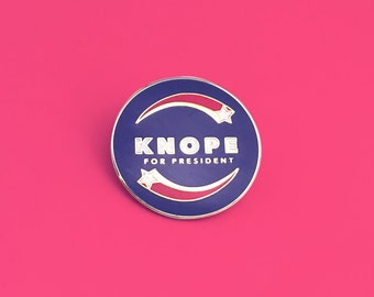 Lapel Pin Parks & Recreation; Knope For President
