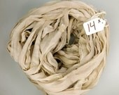 CHIFFON sari ribbon, Recycled Silk Chiffon Sari Ribbon, silk chiffon ribbon, Taupe sari ribbon, tassel supply, knitting supply