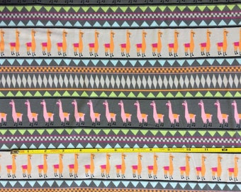 "Springs Creative Llama Stripe cotton lycra knit fabric 96/4 58"" wide"
