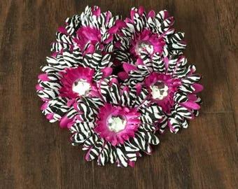 75% OFF- Purple Zebra Gerbera Daisy Flower Head Only w/ Jeweled Center