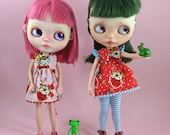 Reserved listing  for caramelaw Valentine's dresses for Blythe  with flutter sleeves