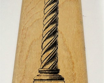Column Wood Mounted Rubber Stamp From Inkadinkado Illuminata 90713-X Architecture