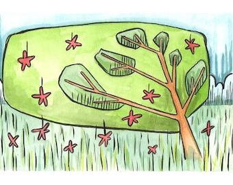 Flower Tree Fine Art Print