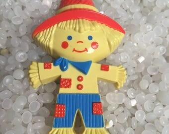 Vintage Avon Scarecrow Perfume glace pin pal