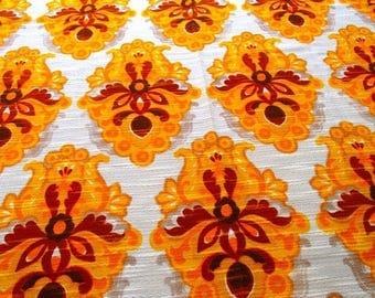 vintage fabric / curtain / (115 x 160 cm) / 60s / 70s