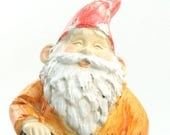 """Gnome - Worker with Hammer - 5"""" Tall miniature fairy garden miniature gnome figurine diorama gnome figurine - 207-52874"""