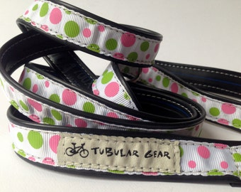 Pink and Green Polka Dot Leash