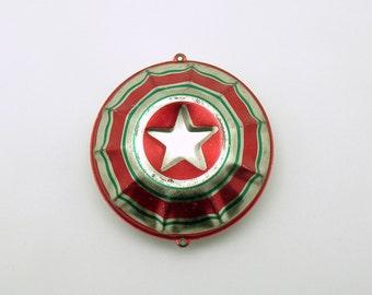 Vintage Christmas Ornament Metal Star USA Rare Christmas Decoration