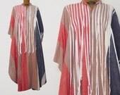 Vintage Kaftan Caftan Boho Ethnic Striped Ribbon