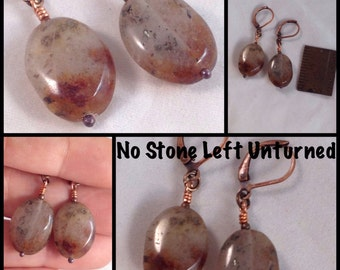simple Lodolite earrings