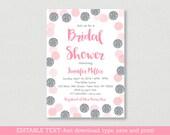 Blush Pink & Silver Brida...