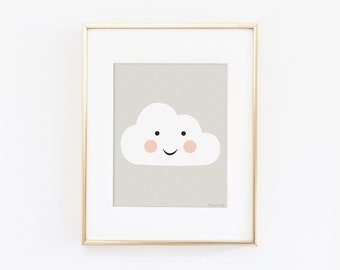 Home Decor Gifts for Her, Cloud Nursery Decor, Cloud Wall Art, Cloud Wall Hangings, Cloud Art Print, Cloud Wall Decor, Baby Shower Gift