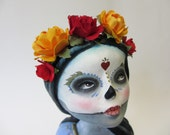 Day of the Dead Art Doll - Lady in Lilac