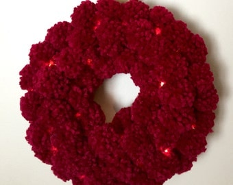 Cranberry Red Wreath and Garland Set