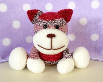 Amigurumi Cat / Crocheted Cat --- Tom Cat - Red