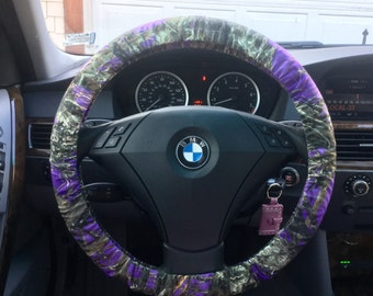 Purple Camo Steering Wheel Cover