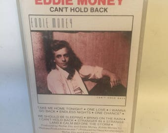Eddie Money Can't Hold Back Cassette Tape
