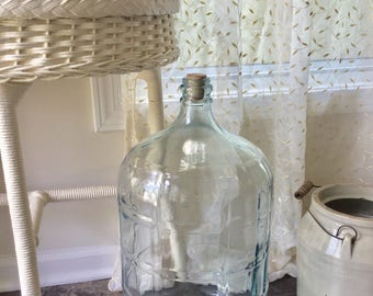 Vintage Crisa Large Huge Glass Water Bottle or Carboy Made in Mexico