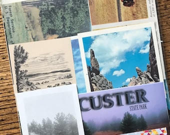 Let's Travel to Custer State Park and Needles Highway Vintage Black Hills South Dakota Collage, Planner and Scrapbook Kit Number 2395