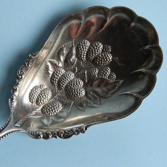 Vintage Silverplate Berry Server Spoon