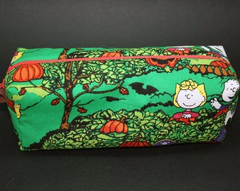 Boxy Makeup Bag - It's the Great Pumpkin, Charlie Brown Zipper - Pencil Pouch - Peanuts
