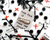 Pre Order, Red Mightier Pen Enamel Pin Badge, Pin, Pins, Writer Gift, RockCakes