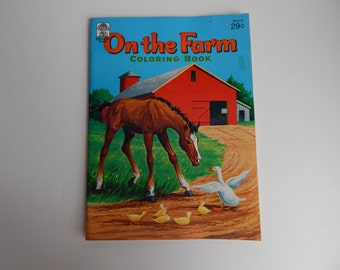 1964 On The Farm Coloring Book